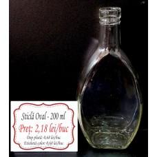 Sticlă OVAL 200 ml