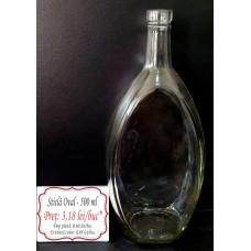 Sticlă OVAL 500 ml
