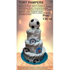 Tort din Pampers 3 etaje