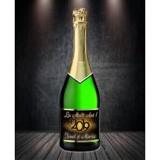 Etichetă Personalizată Șampanie - Butelie vin