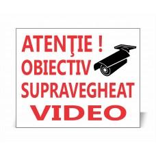 Panou Obiectiv Supravegheat Video