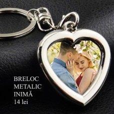 Breloc Metalic Inimă