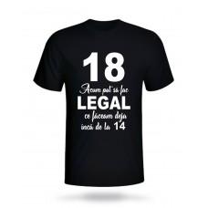 Tricou 18 Acum pot să fac Legal ce Făceam deja încă de la 14