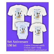 Set 4 - Aniversare Băiețel 1 AN Mickey Baby