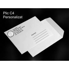 Plic C4 Personalizat Alb-Negru