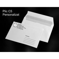 Plic C5 Personalizat Alb-Negru