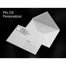 Plic C6 Personalizat Alb-Negru
