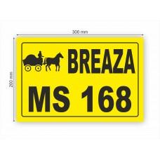 Plăcuță număr înregistrare vehicul-atelaj (căruță) 30x20 cm